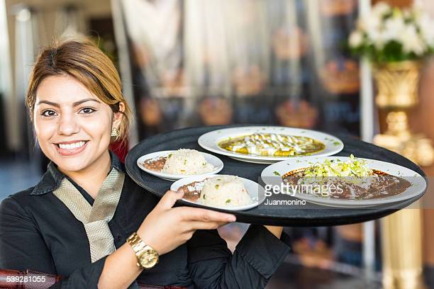 beautiful hispanic waitress