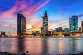 Beautiful Ho Chi Minh City Skyline at night