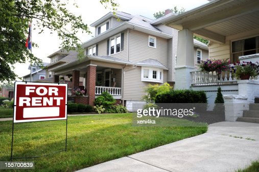 A beautiful home available for rent : Stock Photo