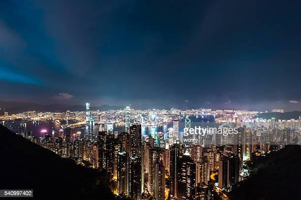 美しい香港の夜
