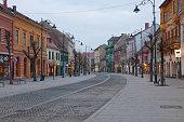 Beautiful houses along Nicolae Balcescu street