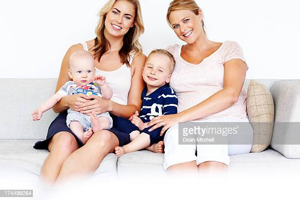 Beautiful image of young family