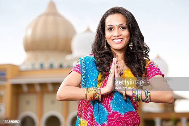 Beautiful Indian Girl Namaste