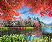 The beautiful karuizawa during the fall season, Japan