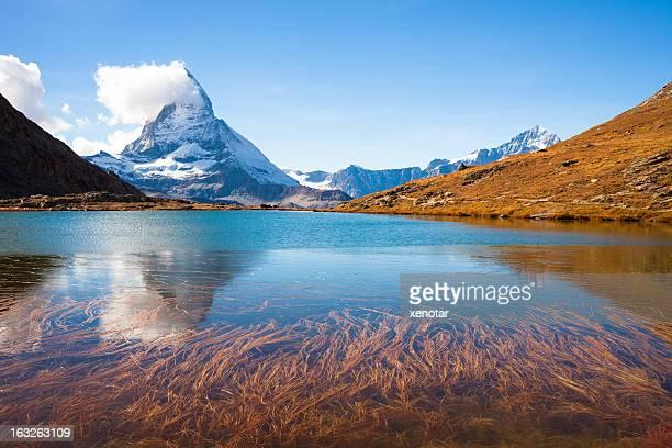 Beautiful lake reflect Wildness Matterhorn