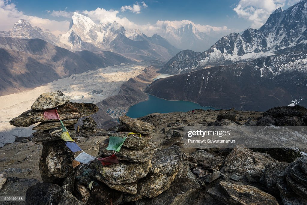 Beautiful landscape on top of Gokyo Ri, Everest region