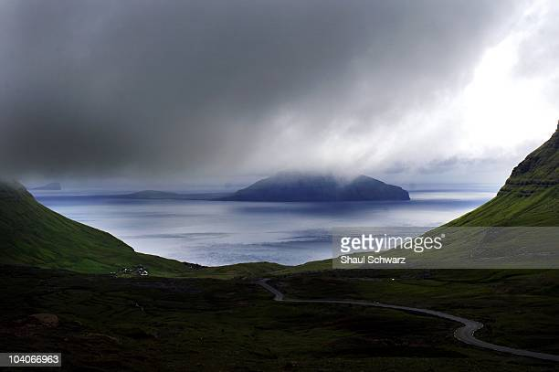 A beautiful landscape overlooking the small island of Koltur as seen from the Island of Streymoy in the Faroe Islands on July 26 2007 Atlantic...