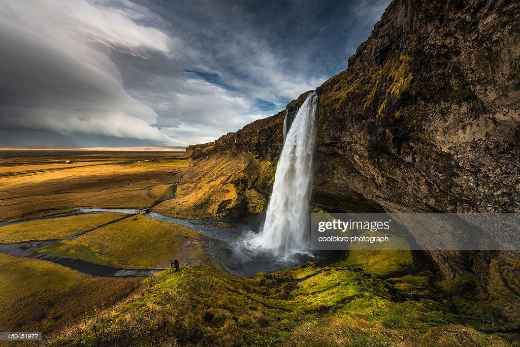 Beautiful landscape view of Seljalandsfoss