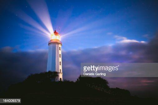 beautiful lighthouse at night