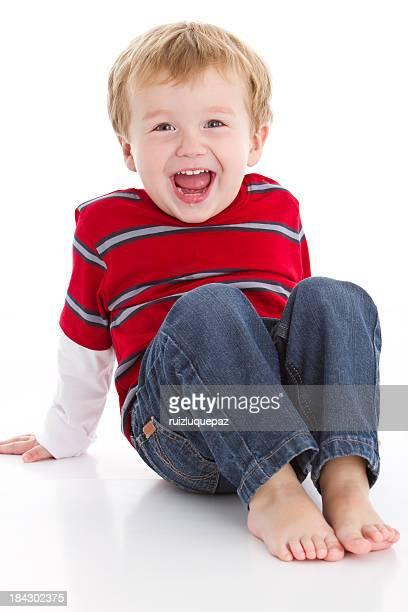 Beautiful little boy looking at camera