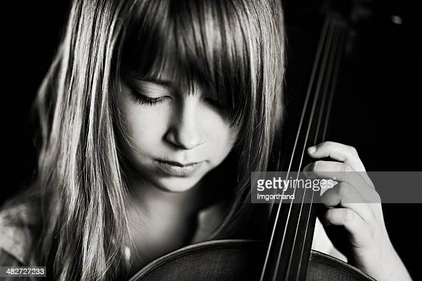 Beautiful little cellist