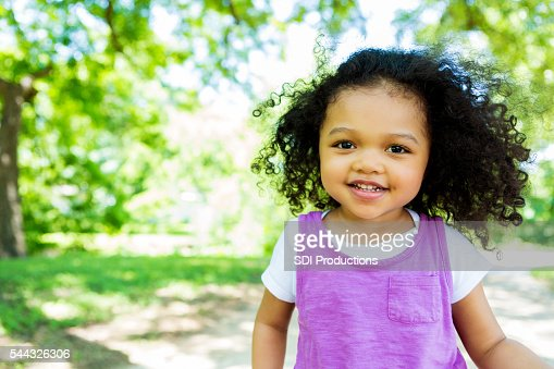 Beautiful little girl in the park