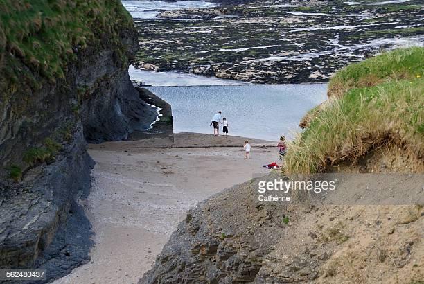 Beautiful lonely beach in Bundoran, Ireland