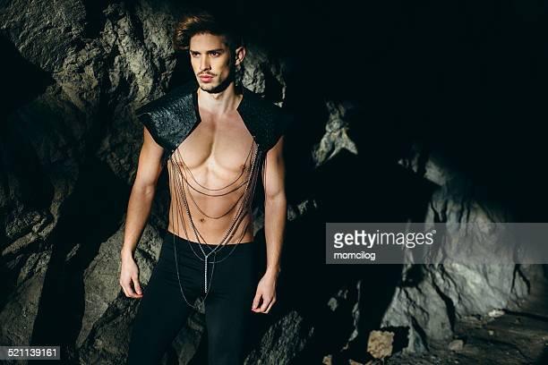 Beautiful male fashion model