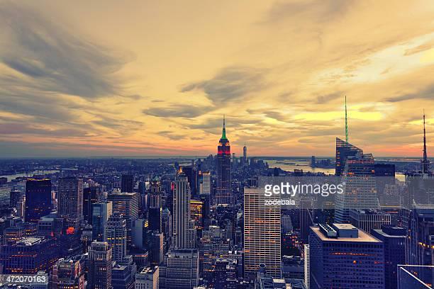 Beautiful Manhattan View at Sunset, New York City