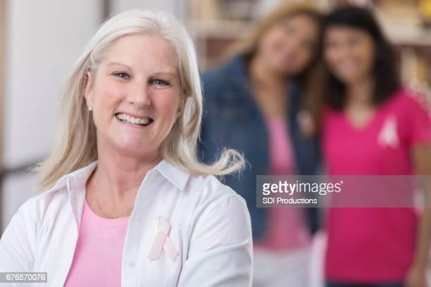Beautiful mature breast cancer survivor