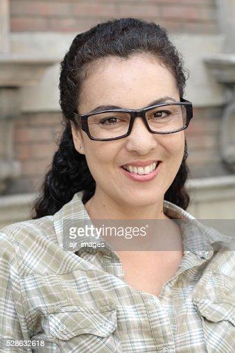 Beautiful Mature Middle Aged Latina Woman Stock Photo