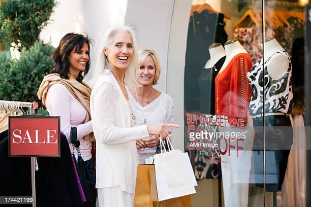 Beautiful mature women shopping
