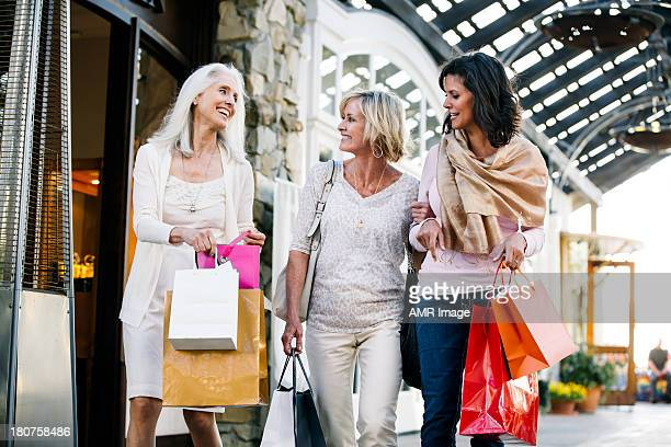Beautiful mature women shopping