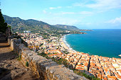 Beautiful medieval fortress of cefalu sicily