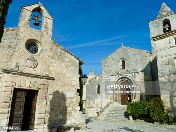 Beautiful medieval square architecture in Provence