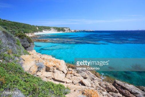 Beautiful Mediterranean sea in summer, Corsica