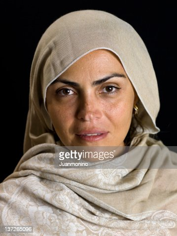 beautiful middle eastern mature woman stock photo  getty