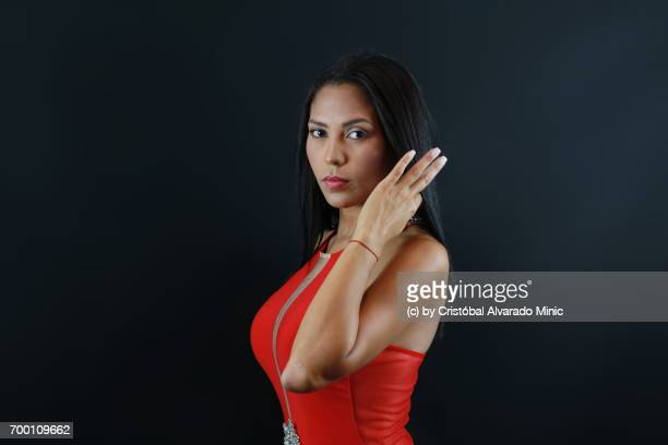 Beautiful Model With Red Dress