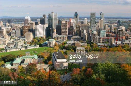 Beautiful Montreal Autumn Cityscape