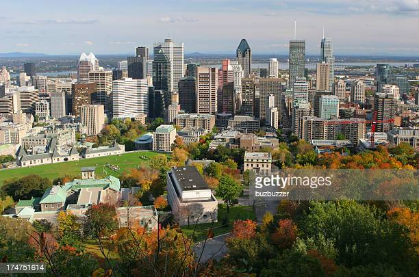 Beautiful Montreal Autumn Cityscape