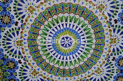 Bellissimo piastrelle marocchine motivo di fes marocco foto stock