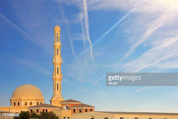 beautiful mosque on blue sky
