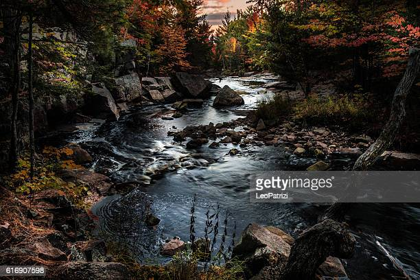 Beautiful mountain river in Ontario - Canada