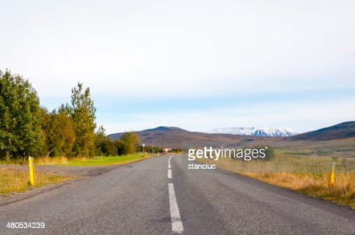 Beautiful mountain road in Iceland : Stock Photo