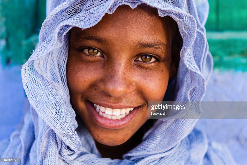 Beautiful Muslim girl in Southern Egypt