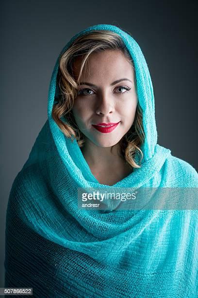 Beautiful Muslim woman wearing the hijab