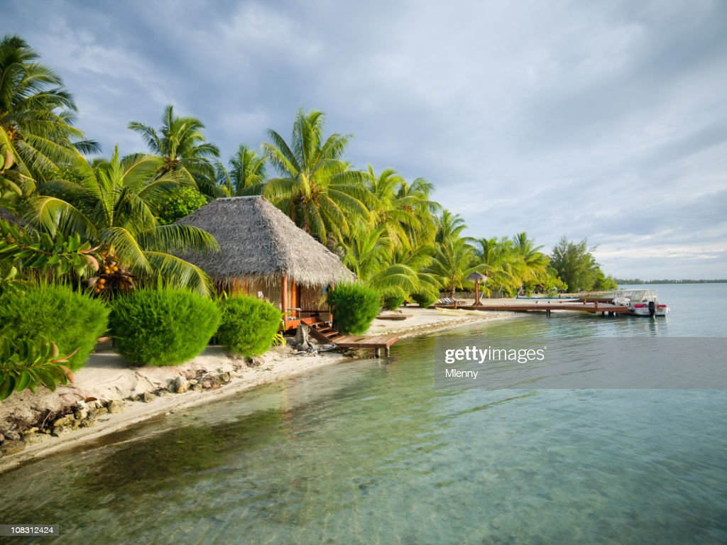 Beautiful Natural Atoll Beach Paradise : Stock Photo