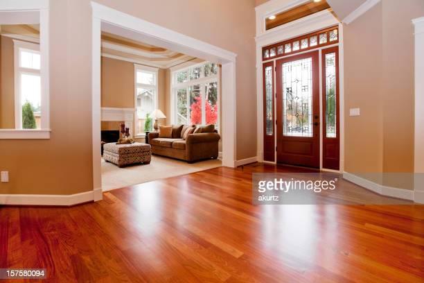 Magnifique maison haut de gamme nouvelle entrée sur mesure des parquets en bois dur