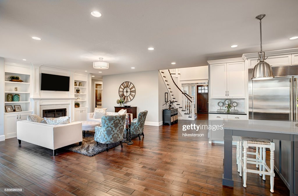 Beautiful New Furnished Living Room In New Luxury Home : Stock Photo Part 71