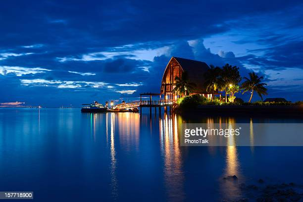 Beautiful Night of Maldives Island