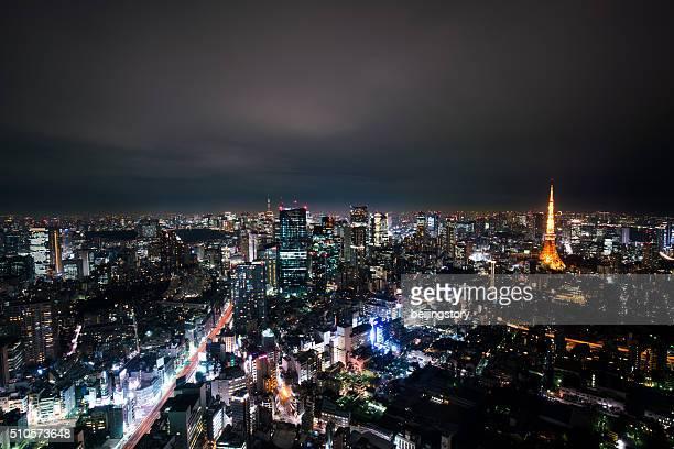 Superbe scène de nuit de la ville de Tokyo