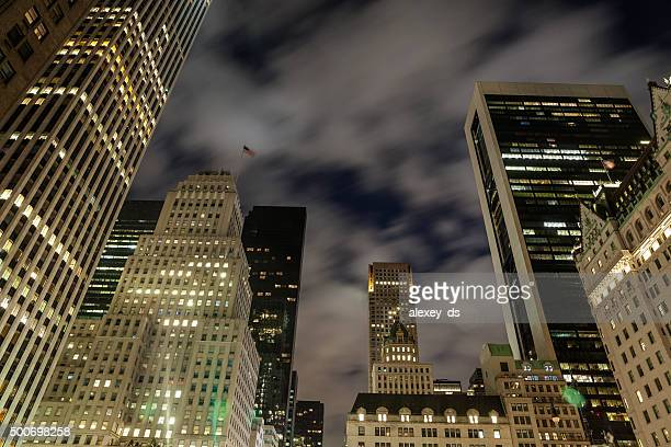 Beautiful night urban skyline