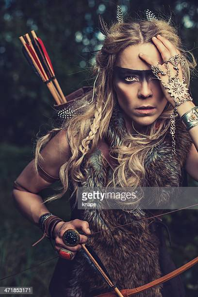 Beautiful northern elf warrior princess