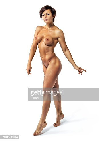 Bellissimo nudo forte sport donna : Foto stock