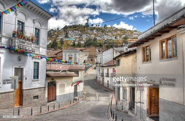 Beautiful Old Street in Quito, Ecuador