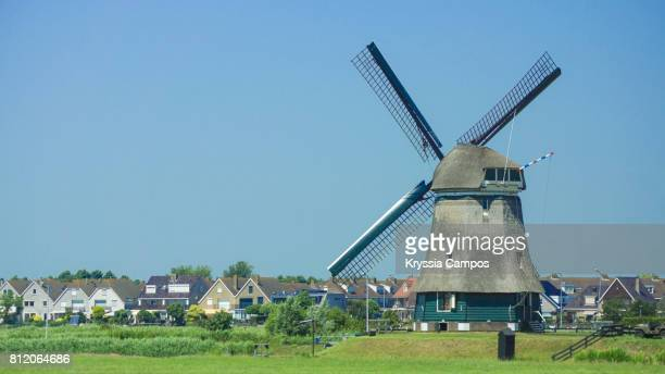 Beautiful Old Windmill close to Volendam, Netherlands