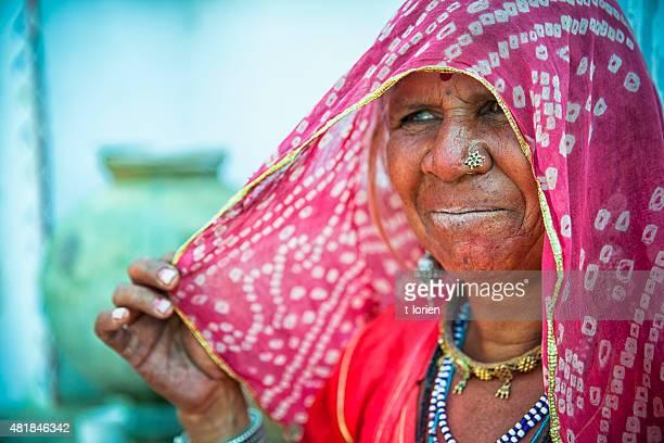 Beautiful older indian woman.
