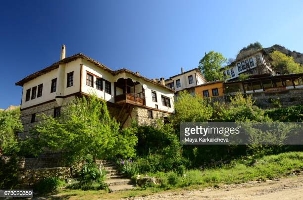 Beautiful old-fashioned houses in the town of Melnik