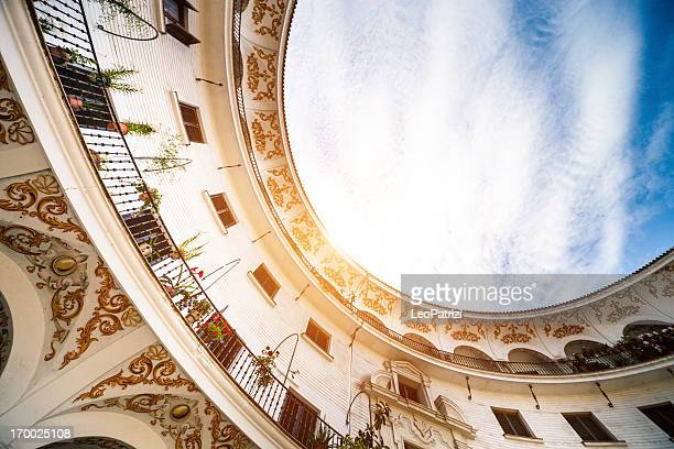 Beautiful oval architecture building in Seville - Spain