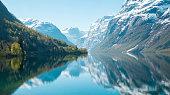 Beautiful panorama of Norwegian nature